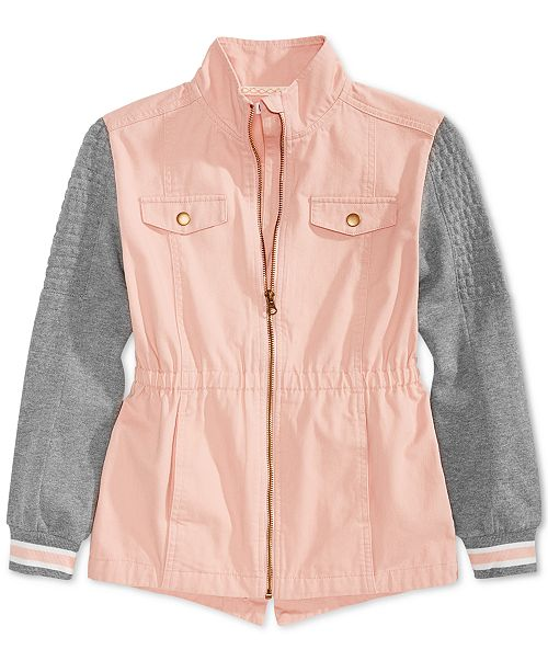 Epic Threads Big Girls Colorblocked Anorak Jacket, Created for Macy's
