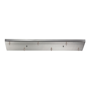 6 Light Rectangular Pan in Satin Nickel