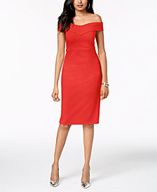 Thalia Sodi Off-The-Shoulder Sheath Dress, Created for Macy's
