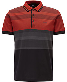 BOSS Men's Slim-Fit Striped Cotton Polo