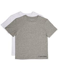 Calvin Klein Little and Big Boys' T-Shirt, 2-Pack