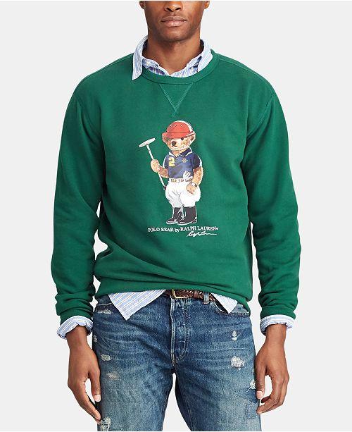 53d5a1fe ... Polo Ralph Lauren Men's Big & Tall Polo Bear Fleece Sweatshirt ...