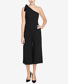 RACHEL Rachel Roy Cropped One-Shoulder Jumpsuit, Created for Macy's