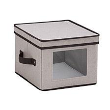 """Honey Can Do 10"""" x 10"""" Window Storage Box, Gray"""