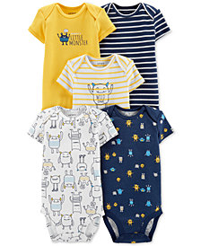 Carter's Baby Boys 5-Pk. Monsters & Stripes Bodysuits
