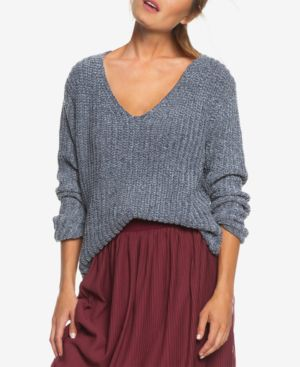 ROXY Padang Paradise Chenille Sweater in Charcoal