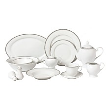 Lorren Home Trends Alyssa  57-PC Dinnerware Set, Service for 8