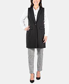 NY Collection Shawl-Collar Ponté-Knit Vest