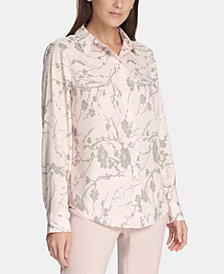 DKNY Printed Blouse, Created for Macy's