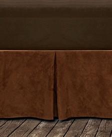 Microfiber Suede Bedskirt
