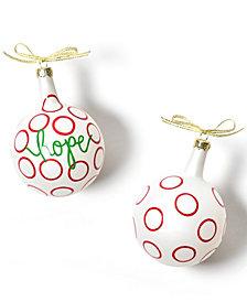 Coton Colors Christmas Spirits Hope Vintage Glass Ornament