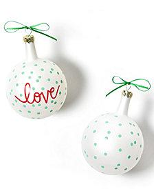 Coton Colors Christmas Spirits Love Vintage Glass Ornament