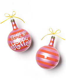 Coton Colors You Are My Happy 80Mm Glass Ornament