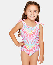 Summer Crush Little Girls Electric Wave Swimsuit