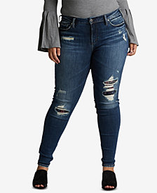 Silver Jeans Co. Avery Ripped Skinny Jeans