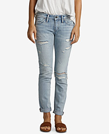 Silver Jeans Co. Ripped Boyfriend Jeans