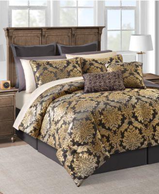 CLOSEOUT! Carrington 20-Pc. Gold Queen Comforter Set