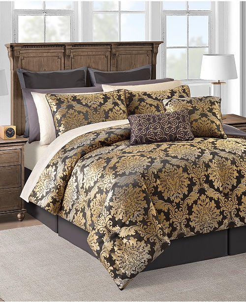 Sunham CLOSEOUT! Carrington 20-Pc. Gold Queen Comforter Set