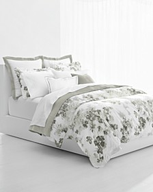 Flora Grey 3-Pc. Cotton King Duvet Cover Set