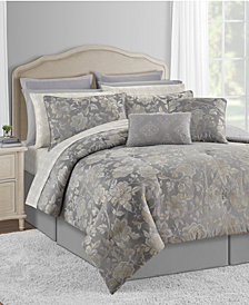 Connie 20-Pc. Gray Queen Comforter Set