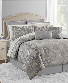 CLOSEOUT! Connie 20-Pc. Gray Queen Comforter Set