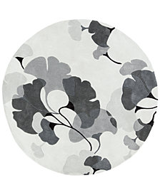 Surya Cosmopolitan COS-9172 Medium Gray 8' Round Area Rug