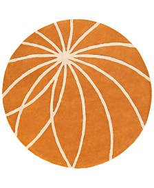 "Surya Forum FM-7175 Burnt Orange 9'9"" Round Area Rug"