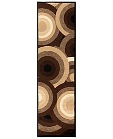 """Paramount PAR-1051 Dark Brown 2'2"""" x 7'6"""" Runner Area Rug"""