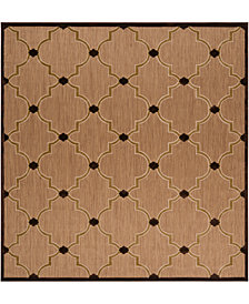 "Surya Portera PRT-1048 Dark Brown 7'6"" Square Area Rug, Indoor/Outdoor"