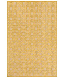 "CLOSEOUT! Surya  Portera PRT-1057 Mustard 4'7"" x 6'7"" Area Rug, Indoor/Outdoor"