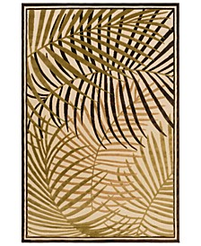 """CLOSEOUT! Portera PRT-1063 Dark Brown 3'9"""" x 5'8"""" Area Rug, Indoor/Outdoor"""