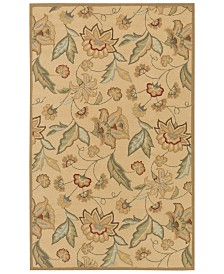 Surya Rain RAI-1011 Khaki 3' x 5' Area Rug, Indoor/Outdoor
