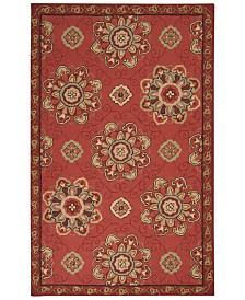 CLOSEOUT! Surya  Rain RAI-1071 Burnt Orange 2' x 3' Area Rug, Indoor/Outdoor