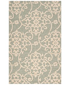 Rain RAI-1103 Sea Foam 2' x 3' Area Rug, Indoor/Outdoor