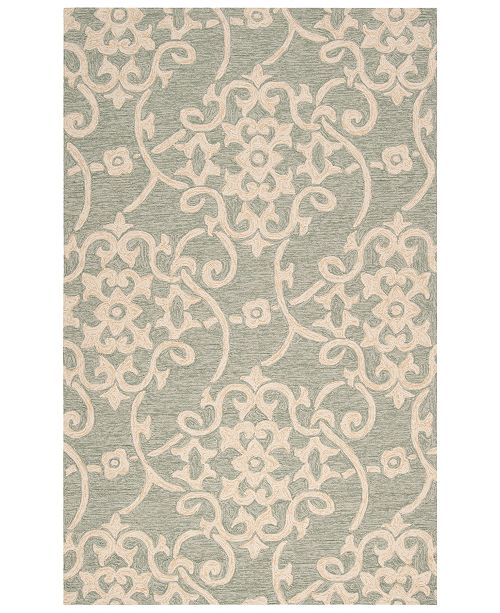 Surya Rain RAI-1103 Sea Foam 2' x 3' Area Rug, Indoor/Outdoor