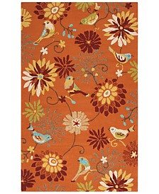 Surya Rain RAI-1104 Burnt Orange 8' x 10' Area Rug, Indoor/Outdoor