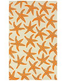 Surya Rain RAI-1136 Bright Orange 5' x 8' Area Rug, Indoor/Outdoor