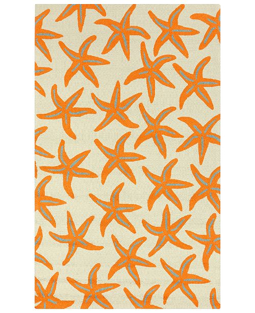 Surya Rain RAI-1136 Bright Orange 2' x 3' Area Rug, Indoor/Outdoor