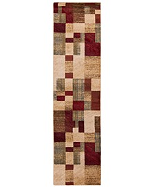 "Riley RLY-5006 Dark Red 2' x 7'5"" Runner Area Rug"