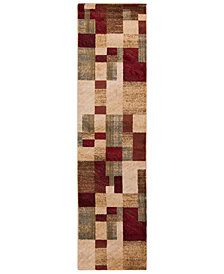 "Surya Riley RLY-5006 Dark Red 2' x 7'5"" Runner Area Rug"