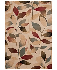 "Riley RLY-5010 Dark Red 5'3"" x 7'6"" Area Rug"