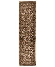 "Surya Riley RLY-5038 Dark Brown 2' x 7'5"" Runner Area Rug"