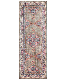 "CLOSEOUT!  Germili GER-2314 Violet 2'11"" x 7'10"" Runner Area Rug"