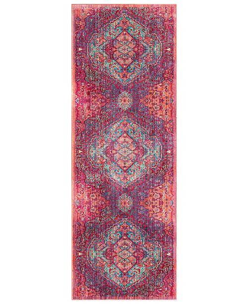 "Surya CLOSEOUT!  Germili GER-2325 Bright Pink 2'11"" x 7'10"" Runner Area Rug"