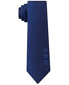 DKNY Men's Slim Logo Silk Tie