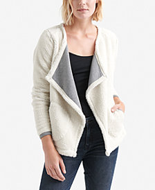 Lucky Brand Fleece Cascade-Collar Jacket