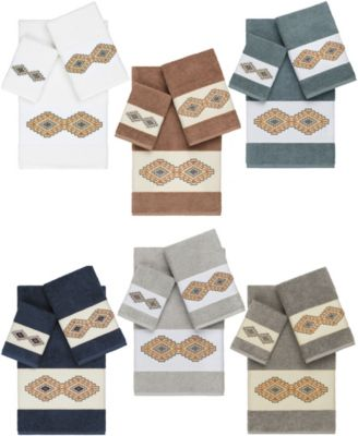 Gianna 2-Pc. Embroidered Turkish Cotton Hand Towel Set