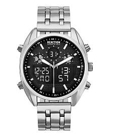 Kenneth Cole Reaction Men's Analog-Digital Stainless Steel Bracelet Watch 45mm