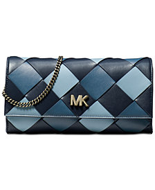 MICHAEL Michael Kors Mott Woven Leather East West Clutch