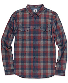 Element Men's Tacoma Regular-Fit Yarn-Dyed Check Corduroy Shirt